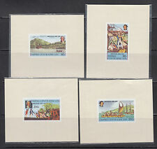 Central Africa 1978 Capt. Cook Deluxe Sheets Sc 341-344 mint never hinged