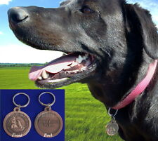 ST. SAINT FRANCIS BRONZE DOG TAG PET ID PROTECTION MEDAL MEDALLION CHARM