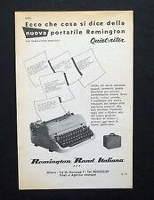 C787 - Advertising Pubblicità- 1953 - REMINGTON QUIET-RITER MACCHINA DA SCRIVERE