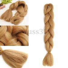 "1pcs 60cm /24"" Brown Jumbo Braiding Synthetic Hair Extension Twist Braids 80g"