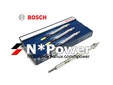 BOSCH GLOW PLUG SET 4 FOR MITSUBISHI Pajero NP V78W 4M41 3.2L TURBO 10.02-09.06
