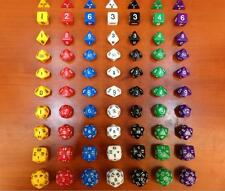 DZ667 Multi-Sid D4 D6 D8 D10 D12 D20 D30 DRAGONS D&D RPG Poly Dice Game 10 Set