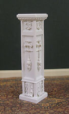 CARVED  PEDESTAL ~Handcrafted ~Jim Coates~ Dollhouse ~ 1:12 scale ~ Room Box