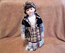 "Dynasty Doll Collection ,April Porcelain Doll 16"" Tall"