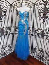 1147 CLARISSE 2399 SZ 0 BLUE $298 FORMAL GOWN DRESS