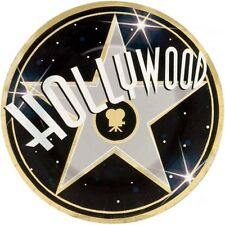 "8 Hollywood Sign Star Party Large 10.5"" Disposable Paper Plates"