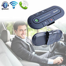 Bluetooth Wireless Speaker Phone Slim Magnetic Hands Free In Car Kit Visor Clip