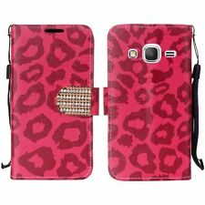 Samsung Galaxy Grand Prime Leather Premium Wallet Case Pouch Flip Phone Cover