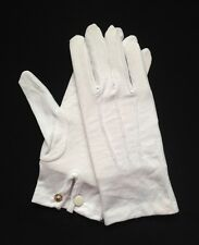 White Cotton Dress Gloves Snap Wrist X-Large (Dozen)