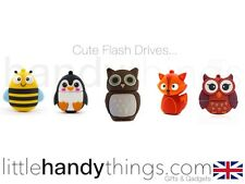 Kids Animale Carino Gufo/Fox/Bee USB 8gb FLASH DRIVE PORTATILE Storage penna/stick Regalo