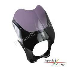"""Venom Drag Racing Fairing & Windshield For 6"""" Round Headlights For Cafe Racer"""