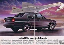 PUBLICITE ADVERTISING 114 1986 VOLKSWAGEN la Jetta GT le super jet  (2 pages)
