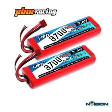NVISION SPORT 3700 7.4 V 45 C LIPO RC HARD CASE DEANS BATTERIA Twin Pack NVO1110