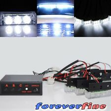 White 18 LED Emergency Vehicle Strobe Flash Lights for Front Grille/Deck or Rear
