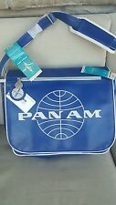 New with Tags! PAN AM Modern MESSENGER/TRAVEL Bag PAN AM BLUE/White Unisex