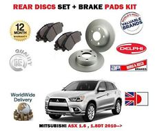 FOR MITSUBISHI ASX 1.6 1.8DT 4/2010- NEW REAR BRAKE DISCS SET + DISC PADS KIT