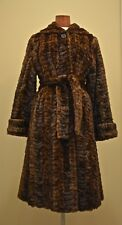 PRISTINE SAPERO'S MAHOGANY BROWN TEXTURED MINK FUR COAT JACKET - SMALL MEDIUM