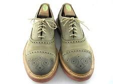 """Allen Edmonds """"BUCKSTRAND"""" Oxfords 9.5 D  Olive   (939)"""