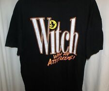 Halloween T Shirt Women's Large Witch With Attitude