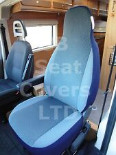 TO FIT A TALBOT EXPRESS MOTORHOME, SEAT COVERS, CHEVRON BLUE MH-022, 2 FRONTS