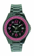 Casio LX-500H-1B Black Pink Casio Ladies Watch Resin Band 50M Analog Date NEW