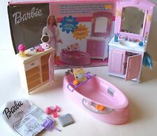 Open Box 2002 BARBIE Living In Style Bathroom Playset  Furniture #67555