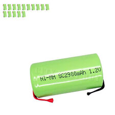 15 x Sub C 1.2V 2900mAh NiMH Rechargeable Battery green