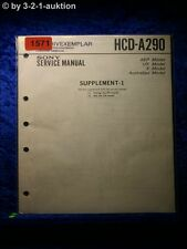 Sony Service Manual HCD A290 Component System  (#1571)