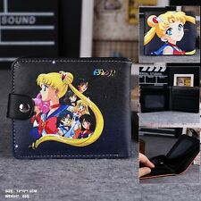 Anime Sailor Moon wallet Leather Purse Fashion man&woman Two-fold Wallet