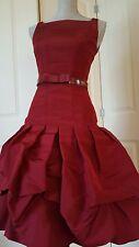 OSCAR DE LA RENTA BEAUTIFUL PURE SILK RED BUBBLE GOWN DRESS RUNWAY  S. US 6