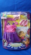 Dora The Explorer BirthdayFiesta Dress Up Clothes Set Shoes Book Fisher Price