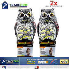 2x Scare Owl with Rotating Head Large Realistic Possum Bird PestRodent Deterrent