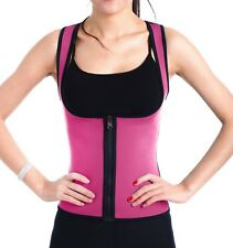 EXTREME Neoprene Blue Womens Vest thermo cami hot  belt shaper Sweat Fat Burner