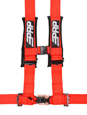 "PRP 4 Point Harness 3"" Pads Seat Belt SINGLE RED Polaris RZR XP Turbo 1000"