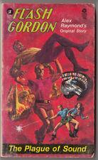FLASH GORDON #2, THE PLAGUE OF SOUND, ALEX RAYMOND, 1ST, 1974, PAPERBACK, PB