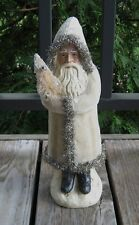 Belsnickle SANTA & White Tree*Primitive/French Country Christmas Farmhouse Decor