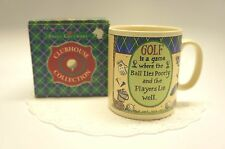 "GOLF MUG: ""GOLF IS A GAME WHERE THE BALL LIES POORLY AND THE PLAYERS LIE WELL"""