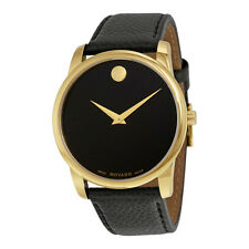 Movado Museum Yellow Gold PVD Stainless Steel Mens Watch 0607014