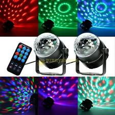 LED RGB Crystal Magic Ball Effect Lights Disco DJ Stage light + Remote Control