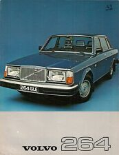 Volvo 264 1976-77 UK Market Leaflet Sales Brochure DL GLE 260-Series