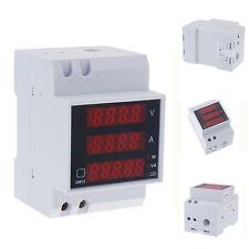 Digital Din-Rail LED Ammeter Voltmeter Voltage Current Meter AC80-300V 0-100A DI