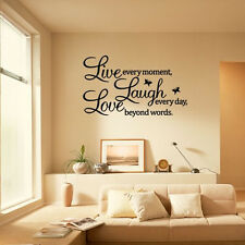 Live every moment Laugh every day Love wall quote sticker home bedroom decor