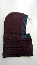 Paul Smith Womens HAT CABLE KNITTED HOOD 100 WOOL Made in Ireland