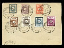 GERMANY EAST SAXONY 1945...7 STAMPS on PIECE...WILTHEN POSTMARKS