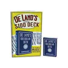 DE LAND'S 100 DOLLAR MARKED STRIPPER DECK BICYCLE MAGIC CARD TRICKS MONTE GAFF