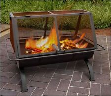 Patio Fire Pit Heater Outdoor Fireplace Furniture BBQ Grill Grate Wood Burning