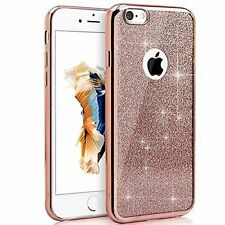 ROSE GOLD IPHONE 6 6s CASE, Bling Glitter Custodia in TPU Gel morbido