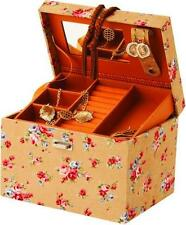 Mele & Co Beige Floral Fabric Jewellery Case (6004)