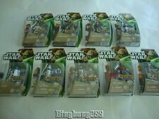 STAR WARS Clone Wars Hasbro 2013 Complete 9 Figures NEW - Canadian Yoda Carded