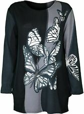 Womens Free Size Top Butterfly Printed Design On Front And Back Fit For 12 14 16